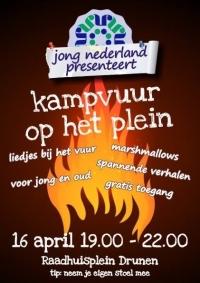 Kampvuur op het plein (Jong Nederland)